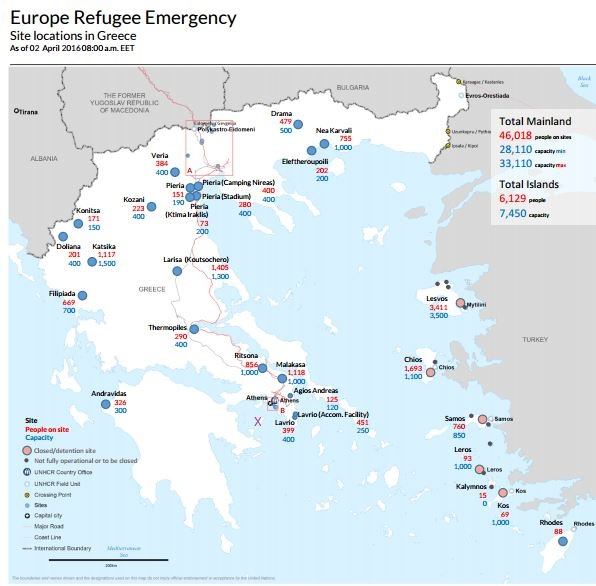 UNHCR April showing Aegina