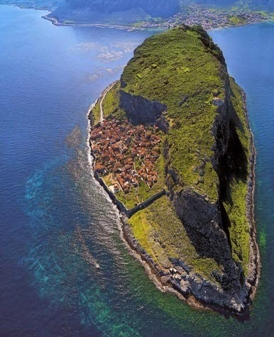 monemvasia from the air